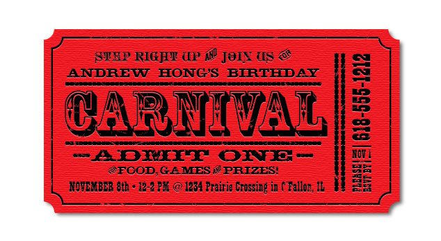 Custom Designed Birthday Invitations