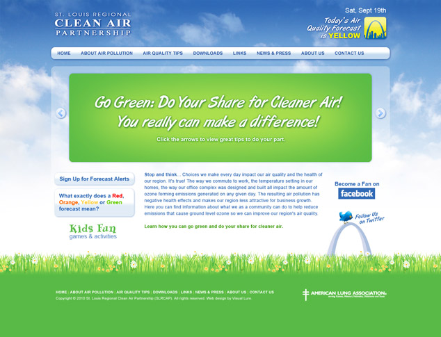 S. Louis Clean Air Website Design