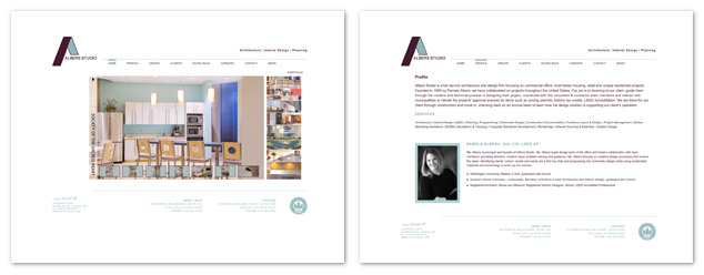 New Albers Studio website design