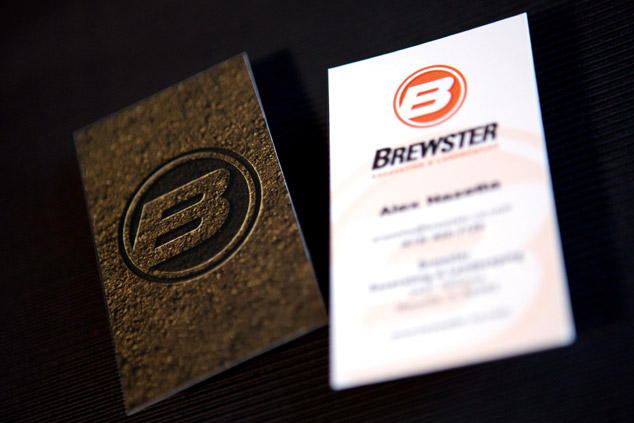 Brewster Excavating Business Card