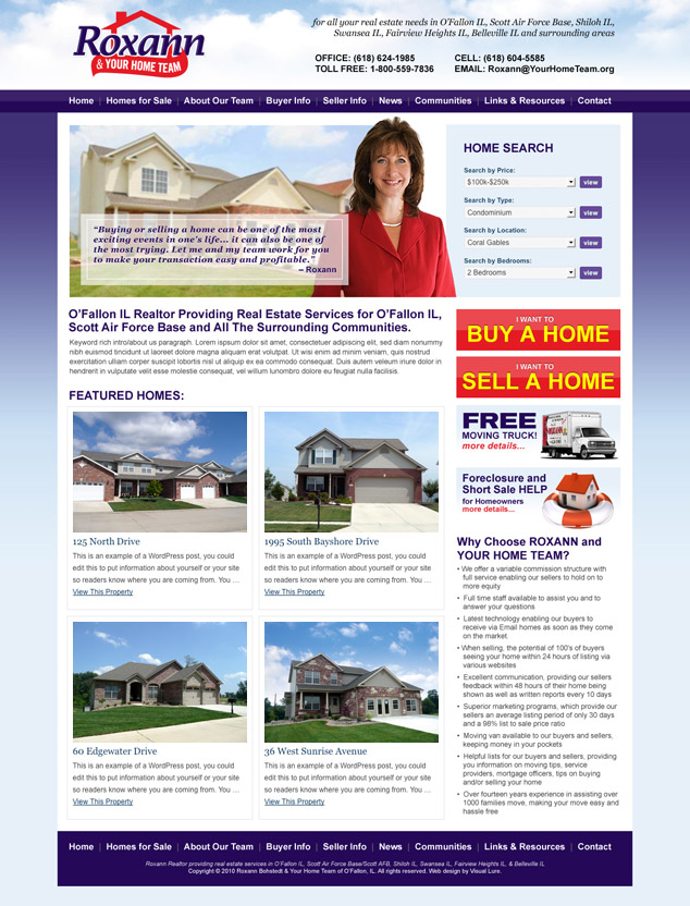 Roxann & Your Home Team Web Design