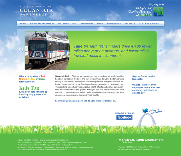 Clean Air St. Louis Web Design