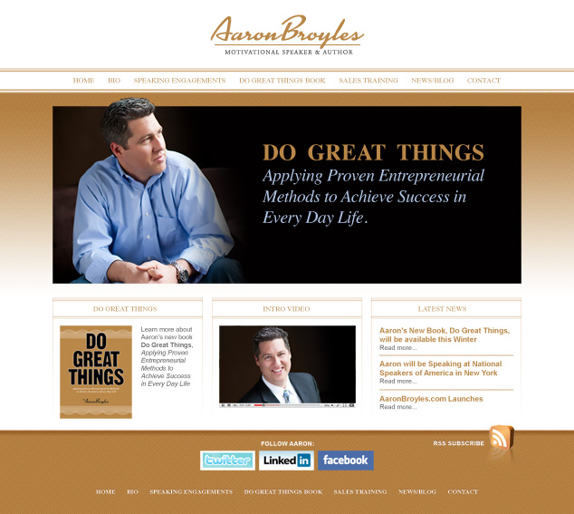 Aaron Broyles Website Design