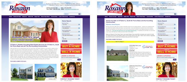Roxann & Your Home Team Real Estate website design