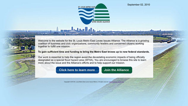 St. Louis Metro East Levee Issues Alliance web design