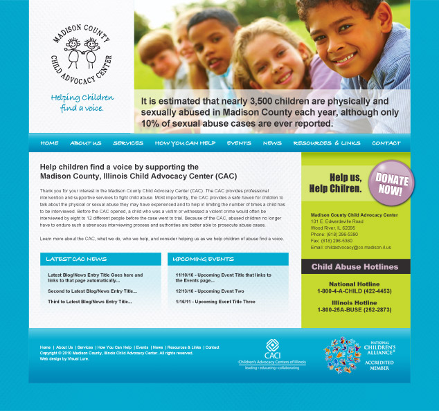 Madison County Child Advocacy Center web design