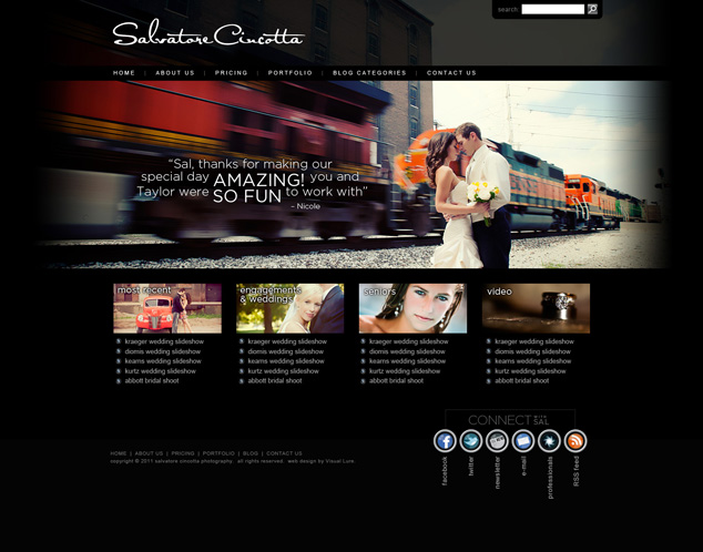 website design for St. Louis MO photographer