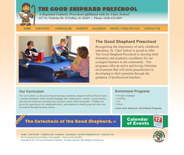 St. Louis web design for preschool