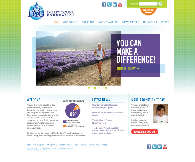 St. Louis web design for nonprofit relief organzation
