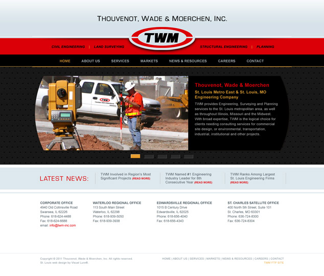 St. Louis web design for TWM