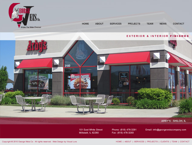 St. Louis Web Design for George Weis Company