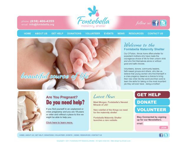St. Louis Web Design maternity shelter