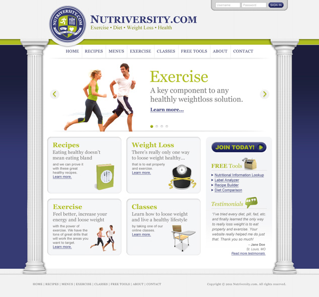 St. Louis to Colorado website design for Nutriversity