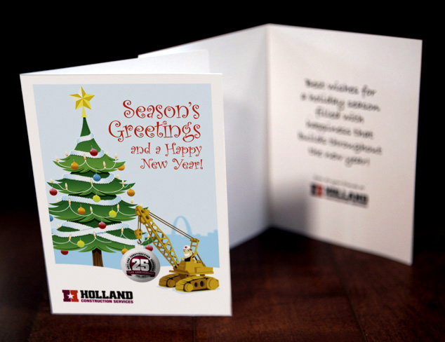 christmas card graphic design illustration