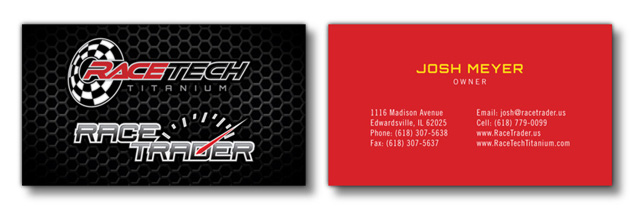 business card design for RaceTech