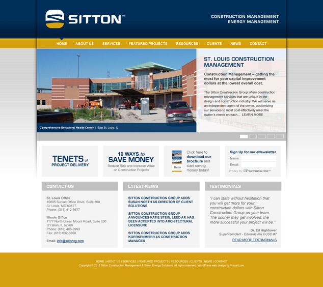 St. Louis Word Press Web Design for Sitton
