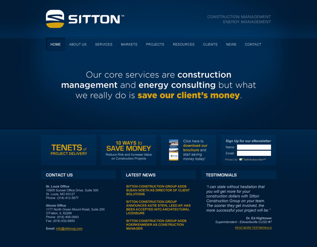 St. Louis Web Design for Sitton Word Press website