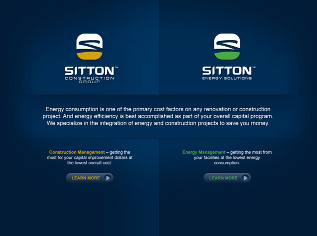 WordPress web design splash page for Sitton
