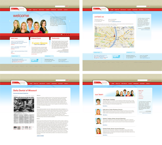 St. Louis Word Press Web Design for The Hauser Group