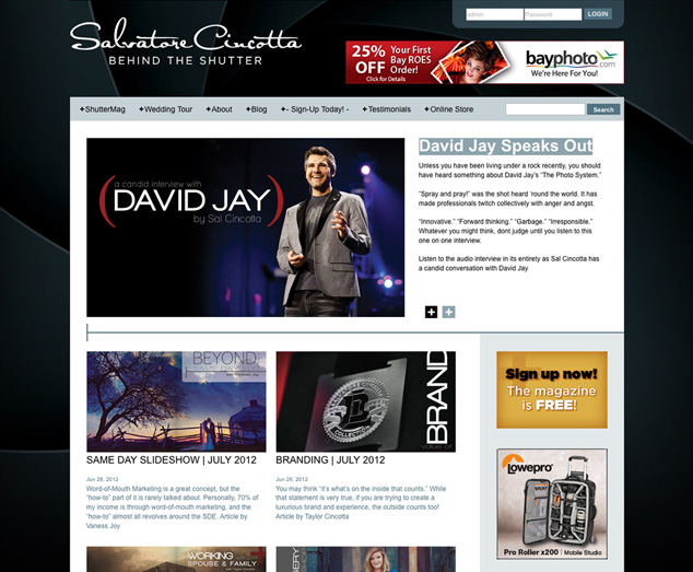 Behind the Shutter website design