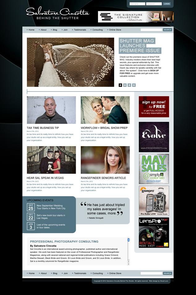 photography consultant web design