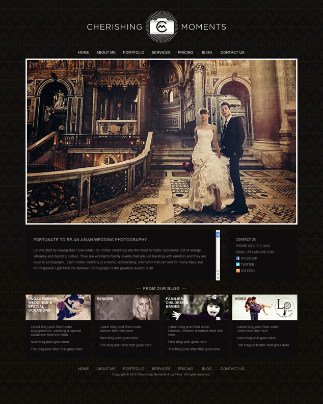 photography web design for Sacramento California photographer