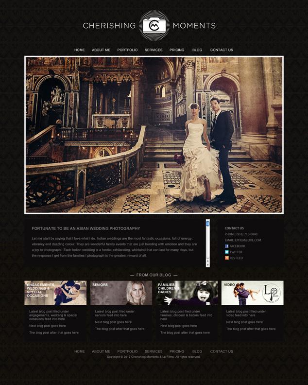 photography web design for Sacramento California photographer