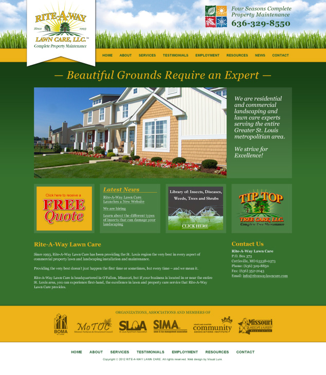 St. Louis landscaping web design