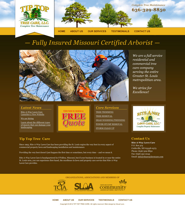 St. Louis tree trimming web design