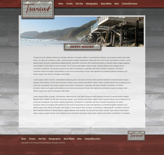 template web design