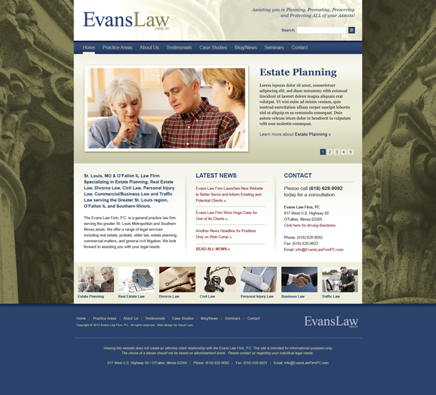 St. Louis WordPress web design for Evans Law