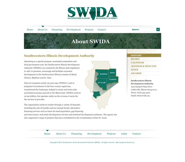 St. Louis word press web design for SWIDA