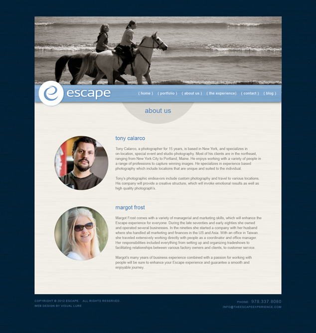 word press website design for photographers