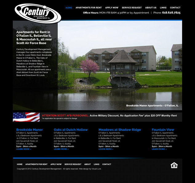 st louis web design wordpress for cdm - Apartment Website Design
