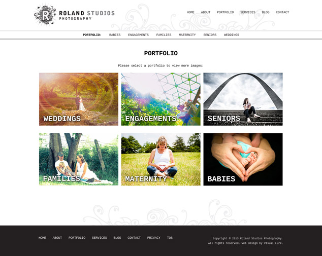web design Roland portfolio page
