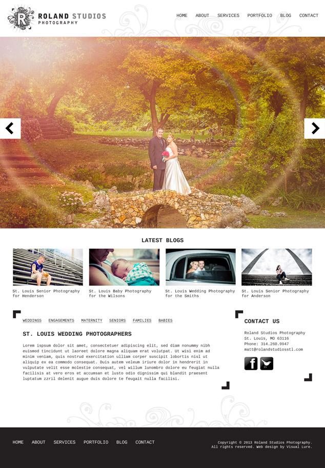 Custom Wordpress Web Design For St Louis Photography Studio Visual Lure