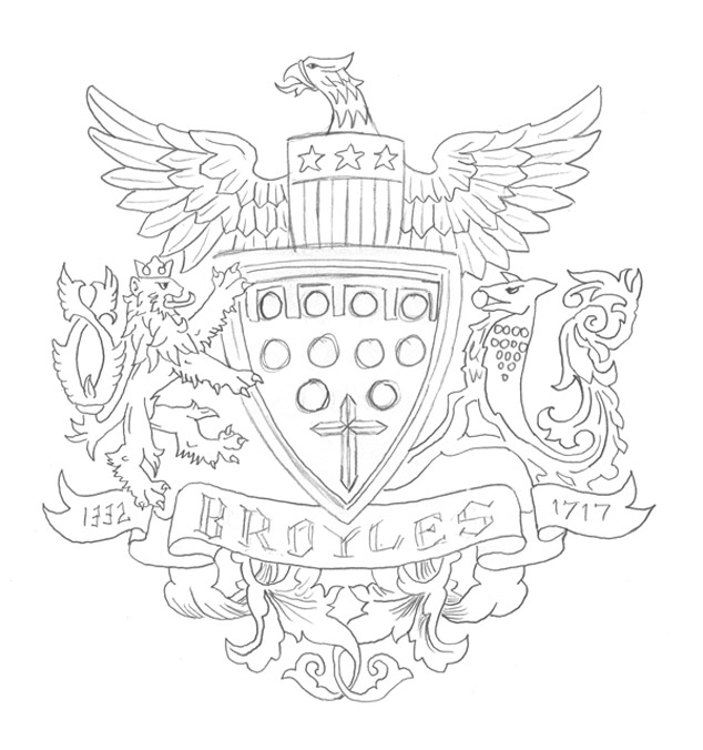 family crest logo design my sketch