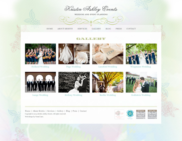 St. Louis WordPress web design KAE gallery page