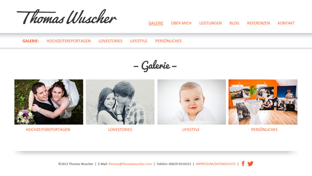 Custom WordPress Web Design gallery for German photographer