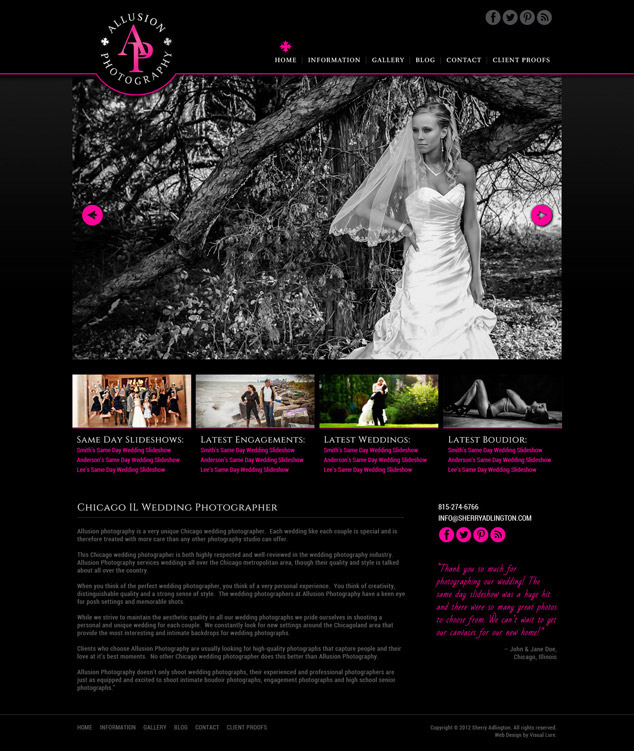 Chicago IL WordPress web design home
