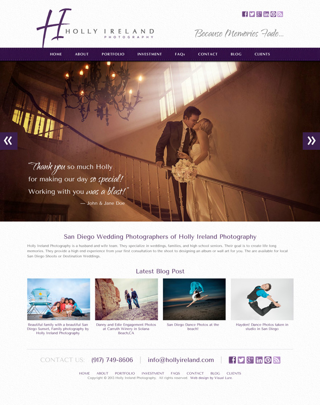 San Diego Photography Web Design for HIP