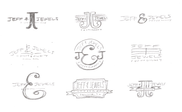 logo design sketches for photography logo