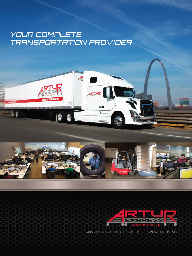 St. Louis graphic design/folder design for Artur Express
