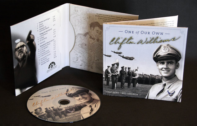 U.S. Air Force Band of Mid-America CD packaging design 2