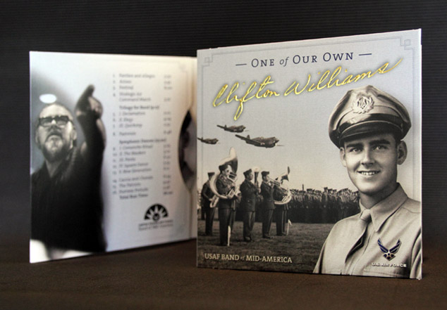 U.S. Air Force Band of Mid-America CD packaging design 1