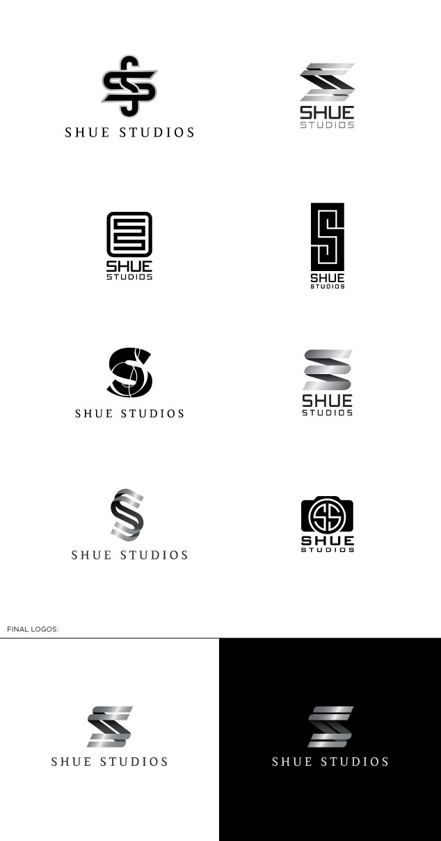 shue studios photography logo design