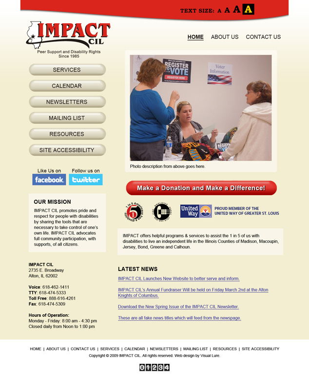 Impact CIL Alton, IL website design