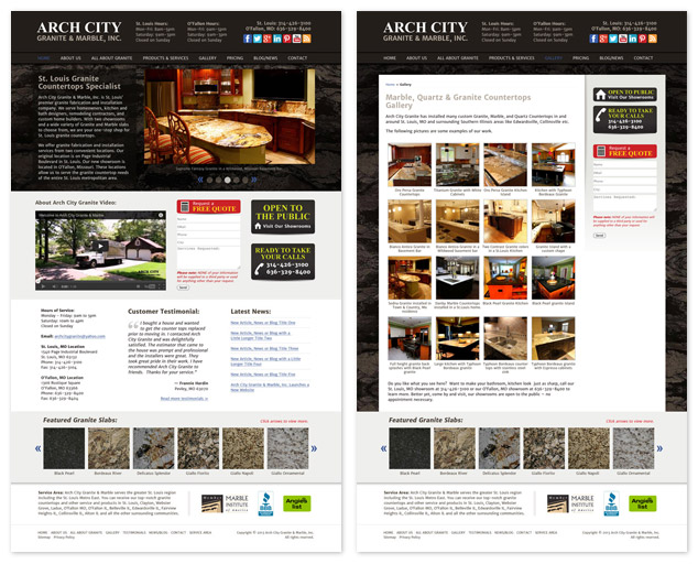 web design St. Louis for Arch City Granite & Marble