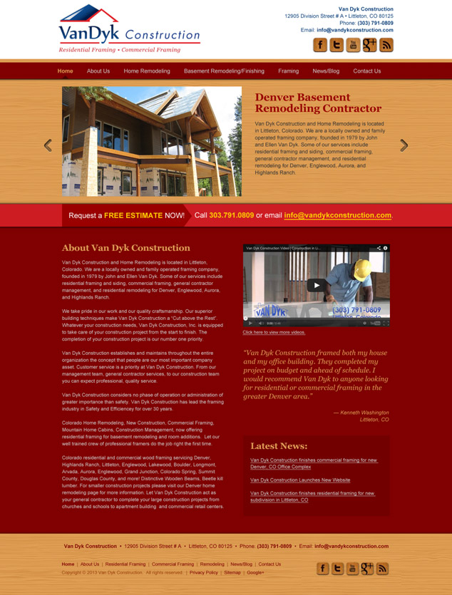 remodeling wordpress web design