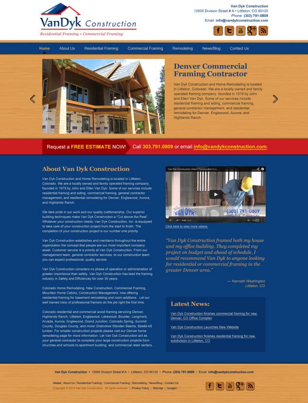 wordpress web design construction
